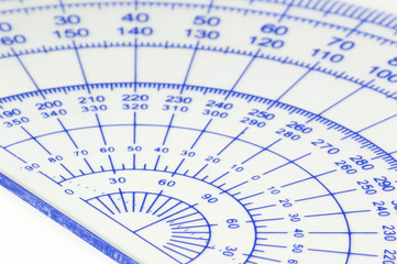 Geometry ruler macro isolated white background