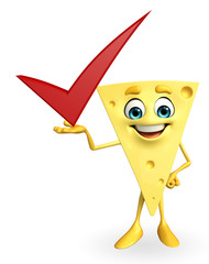 Cheese Character with right sign