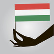 Hand with flag Hungary