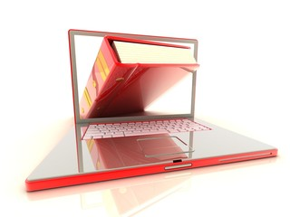 concept books in laptop