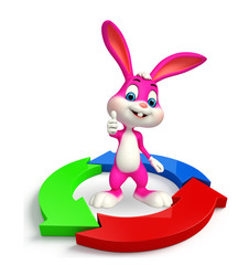 Easter Bunny with circular graph