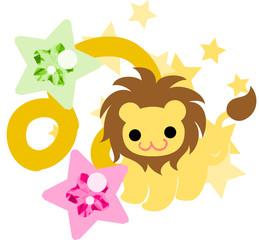 星占いの獅子座をイメージしたイラスト