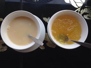 milk and yam dip