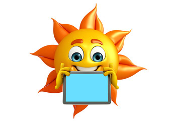 Sun Character With simple tab