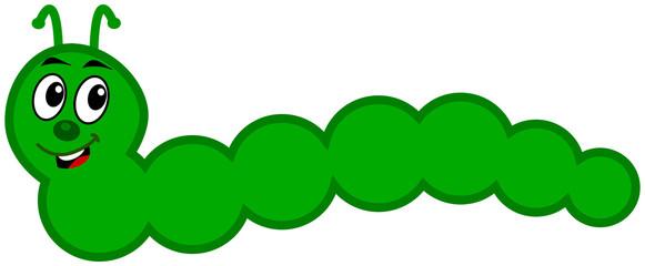 a green caterpillar