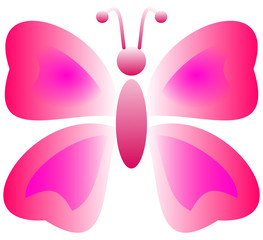 a pink butterfly with effect