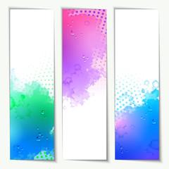 Abstract Vector Watercolor Headers