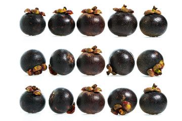 Mangosteen fruit isolated