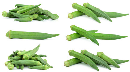 Okra Isolated on white background
