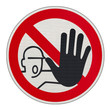 panneau attention, stop, passage interdit