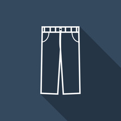 trousers icon with long shadow
