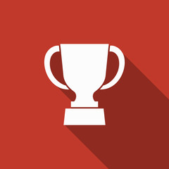 trophy icon with long shadow