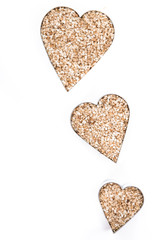 Sesame Hearts isolated on white