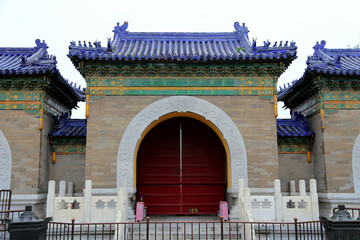 On the territory of the Temple of Heaven, Beijing, China