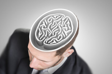 Brain maze in businessman's head
