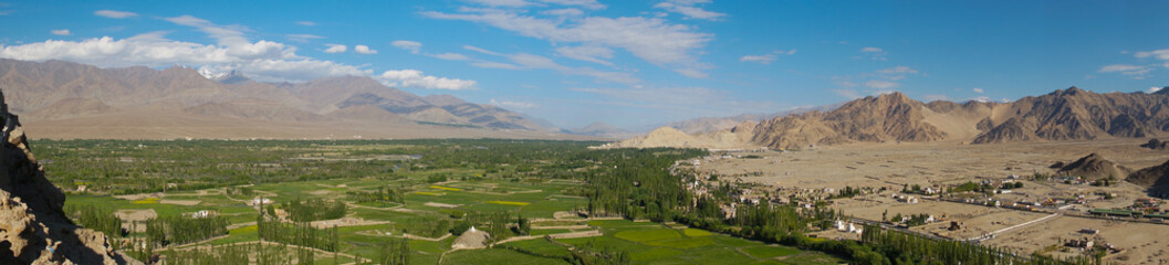 Panorama from Thiksey monastery in Ladakh, India