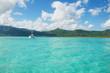 catamaran dans lagon turquoise a l'ile maurice