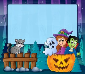 Mysterious forest Halloween frame 5
