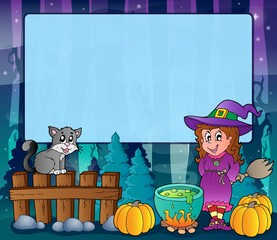 Mysterious forest Halloween frame 6