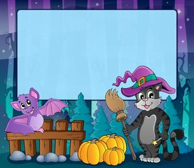 Mysterious forest Halloween frame 8