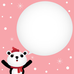 Christmas card with panda