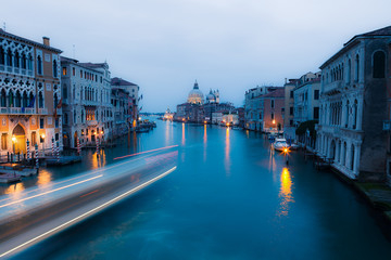 Grand canal after sunset