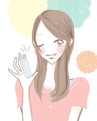 おすすめスキンケア/モテ系の女性