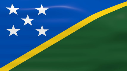Waving Solomon Islands Flag, ready for seamless loop.