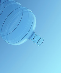 Water Gallon with Blue Background