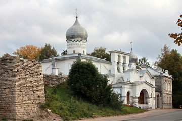 View of Old Pskov autumn landscape