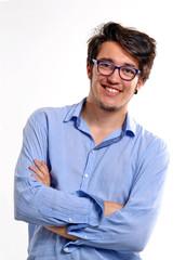 Retrato de un joven ejecutivo intelectual.