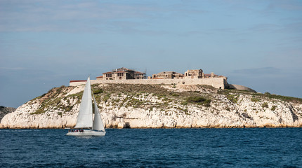 Hospital Caroline on Ratonneau island, Marseille