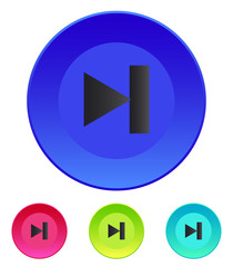 Next track web icon. Media player.