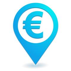 euro sur symbole localisation bleu
