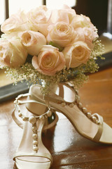 bouquet with shoes