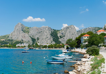 Summer morning in Croatia, Omis.
