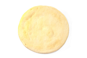 Pizza dough isolated on white