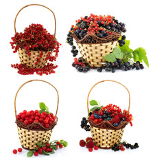 Set with berries in baskets