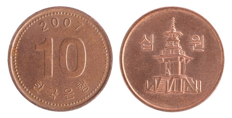 south korean wons coin