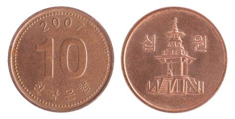 south korean wons coin