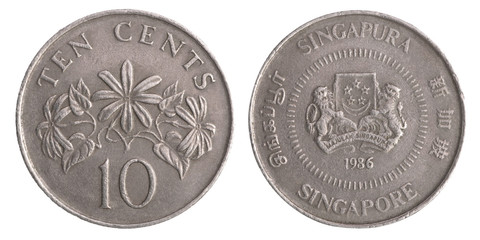 Singapore coin ten cents