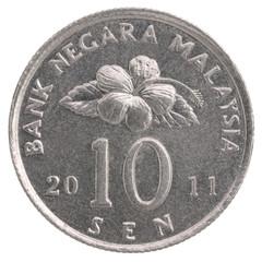 10 Malaysian sen coin