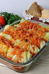 stuffed savoy cabbage