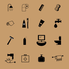 Bathroom equipment flat icon