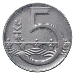 czech koruna coin