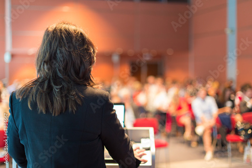 Business woman lecturing at Conference. - 67984667