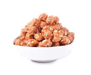 Honey roasted peanuts and sesame