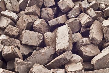 peat briquettes background