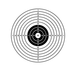 black and white target