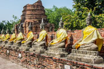 Statue of buddha at Wat Yai Chaimongkol